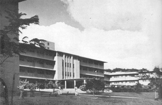 Aiea Naval Hospital-Entrance to the main building